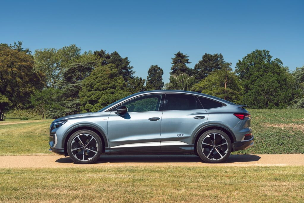 The new fully electric Audi Q4 Sportback e-tron compress the many benefits of the original, highly successful e-tron SUV into more compact format that combines exceptional space, ingenious technology and 316-mile range potential.
