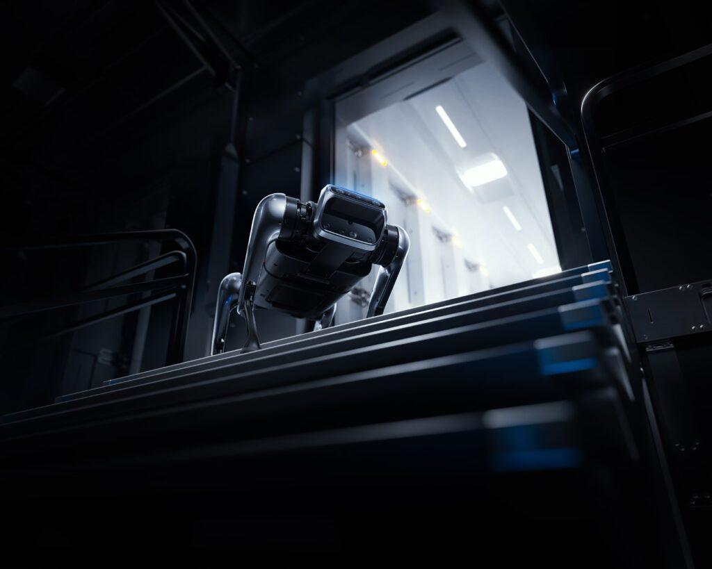 Xiaomi CyberDog decending stairs