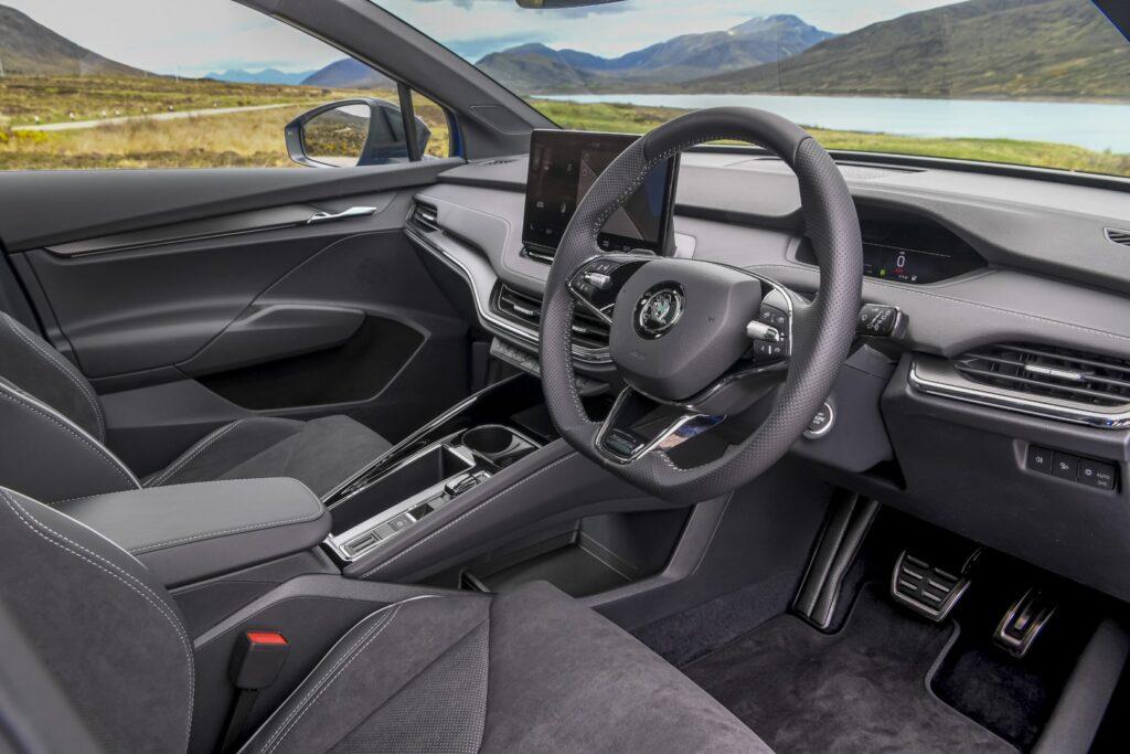 SKODA adds all-wheel-drive 80x SportLine Enyaq iV range Interior