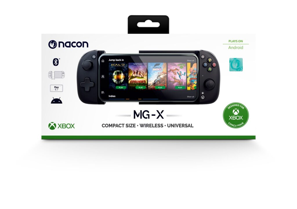 NACON, a major player in the design and distribution of video games and gaming accessories is happy to announce that the MG-X, an official Xbox controller especially designed for mobile gaming on Android